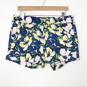 """J. CREW Floral 5"""" Printed Stretch Chino Shorts 8"""